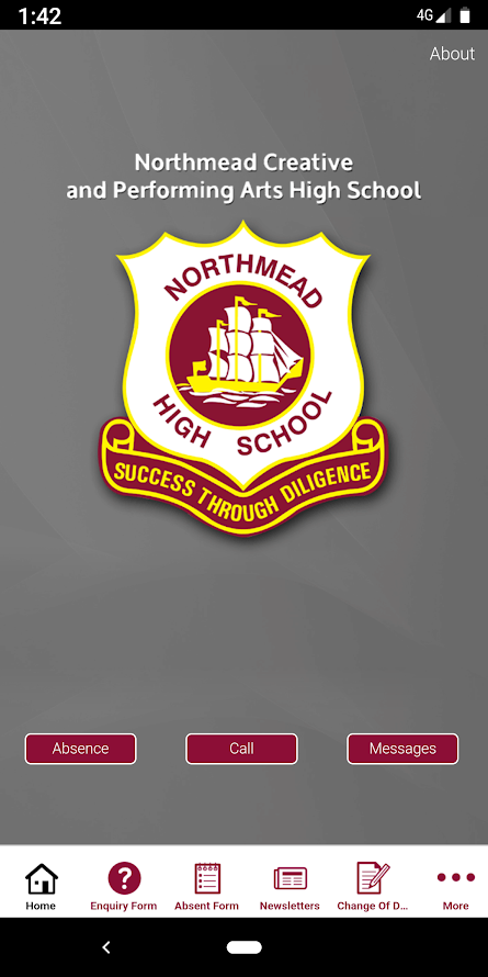 School App front page